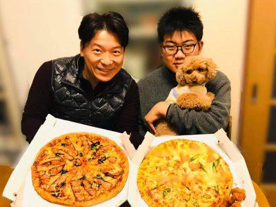【 息子はケーキよりピザ ! (^.^) 】